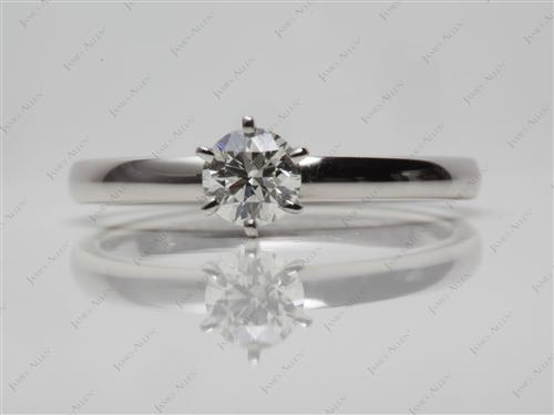 Platinum 0.35 Round cut Solitaire Ring Setting