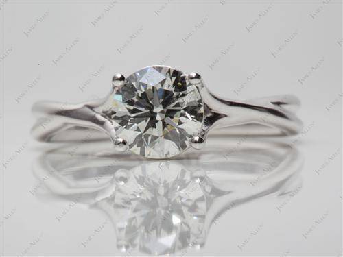 White Gold 1.20 Round cut Solitaire Engagement Ring