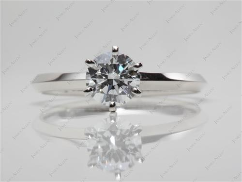Platinum 0.70 Round cut Diamond Solitaire Ring Settings