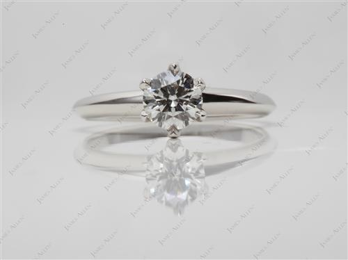 Platinum 0.64 Round cut Solitaire Ring Setting