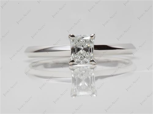 White Gold 0.40 Radiant cut Engagement Ring
