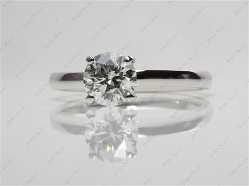 Platinum 0.90 Round cut Diamond Solitaire Rings
