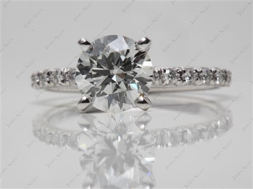 Platinum 1.70 Round cut Diamond Ring