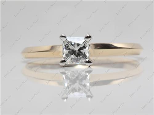 Gold  Round Solitaire Ring