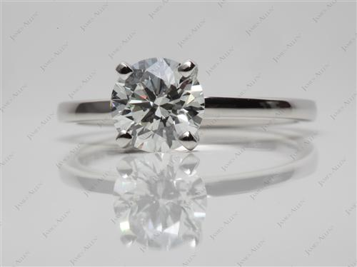 Platinum 1.10 Round cut Diamond Solitaire Rings