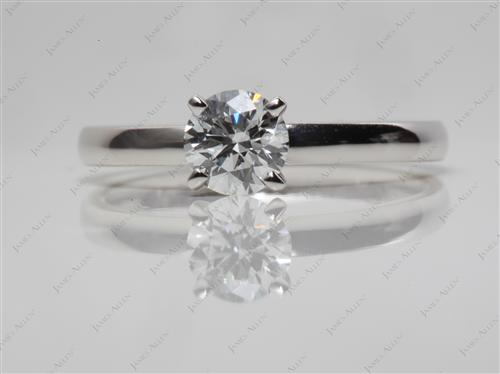 Platinum 0.55 Round cut Diamond Ring