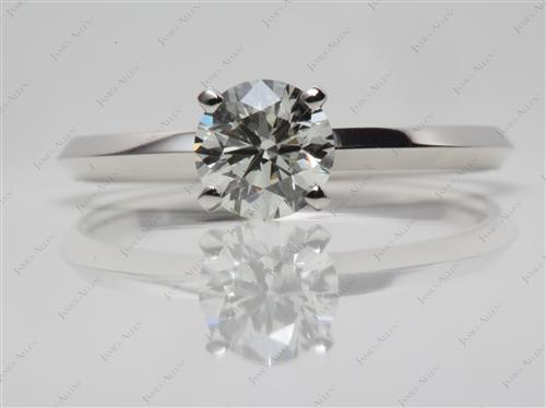Platinum 1.01 Round cut Solitaire Rings