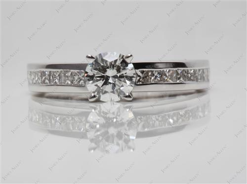 White Gold 0.60 Round cut Channel Set Rings