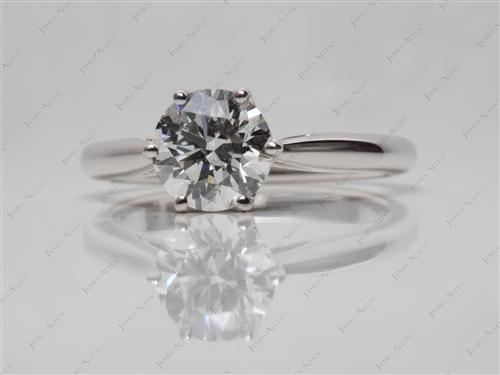 White Gold 1.20 Round cut Solitaire Ring Designs