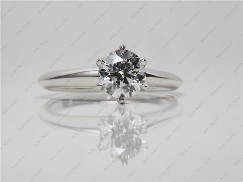 Platinum 0.81 Round cut Solitaire