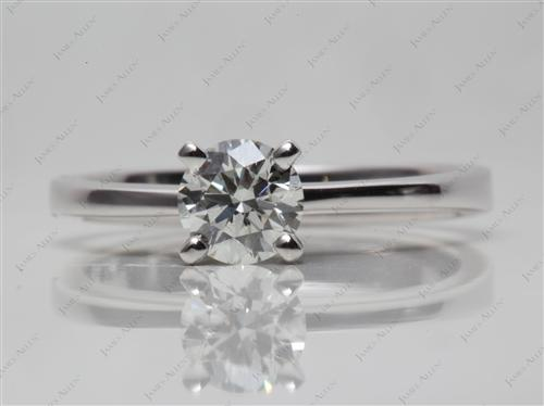 White Gold 0.72 Round cut Diamond Engagement Solitaire Rings