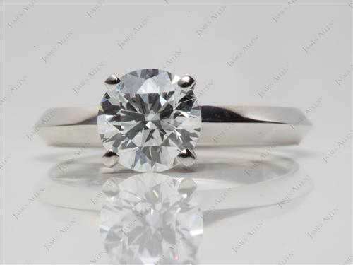 Platinum 1.24 Round cut Solitaire