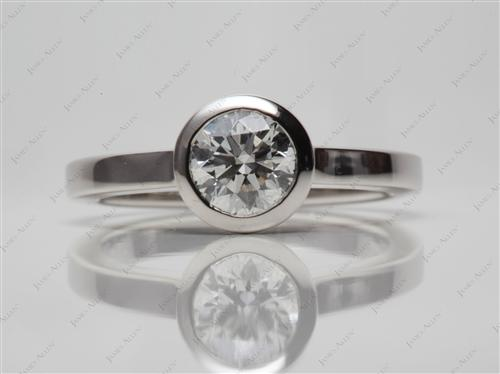 Platinum 0.82 Round cut Solitaire Ring