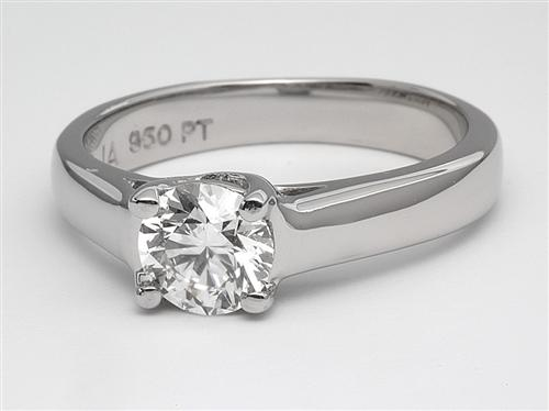Platinum 0.71 Round cut Diamond Rings
