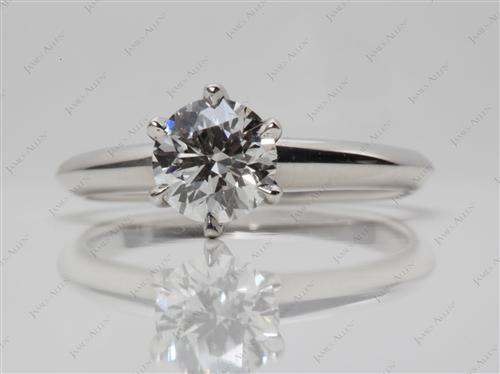 Platinum 0.77 Round cut Diamond Ring