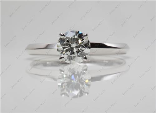 White Gold 0.66 Round cut Solitaire Ring Mountings