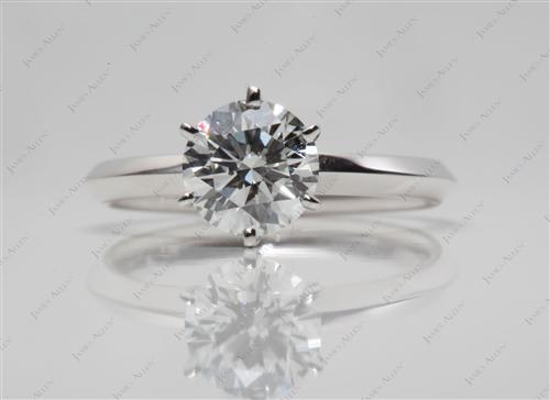 White Gold 1.01 Round cut Diamond Ring