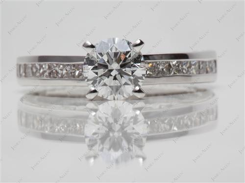 White Gold 1.01 Round cut Channel Set Diamonds