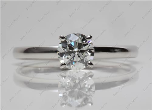 Platinum 0.78 Round cut Diamond Engagement Solitaire Rings