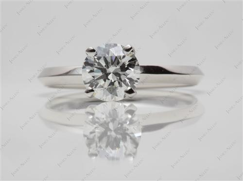 Platinum 0.90 Round cut Solitaire Rings