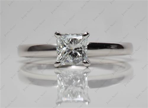 Platinum 0.81 Princess cut Diamond Ring