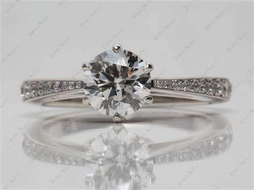 Platinum 1.01 Round cut Diamond Rings