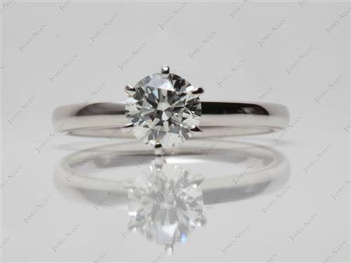 Platinum 0.91 Round cut Solitaire Ring Designs