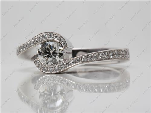 White Gold  Tension Engagement Rings
