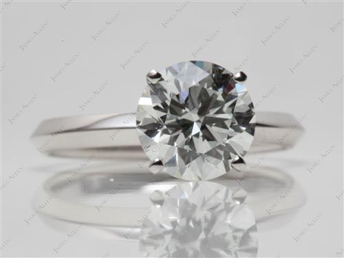 Platinum 2.40 Round cut Solitaire Ring