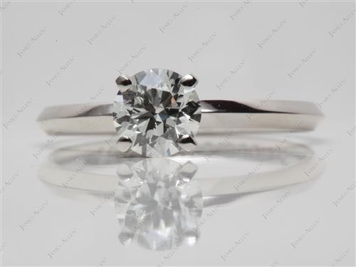 Platinum 0.81 Round cut Solitaire Ring Settings