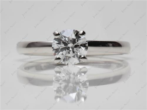 Platinum 0.75 Round cut Solitaire Engagement Rings