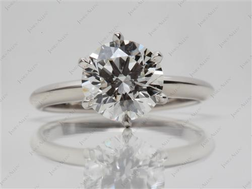 Platinum 2.22 Round cut Solitaire Ring Designs