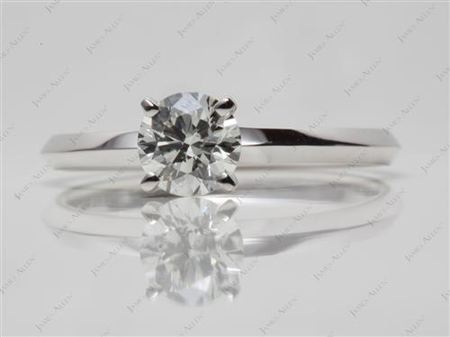 White Gold 0.70 Round cut Solitaire Diamond Ring