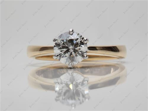 Gold 0.82 Round cut Solitaire Ring Setting