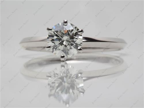 Platinum 1.09 Round cut Solitaire Ring