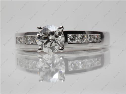 Platinum 0.90 Round cut Channel Ring