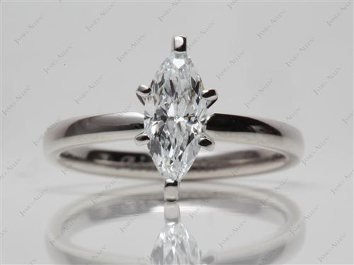 Platinum 0.69 Marquise cut Solitaire Ring Mountings