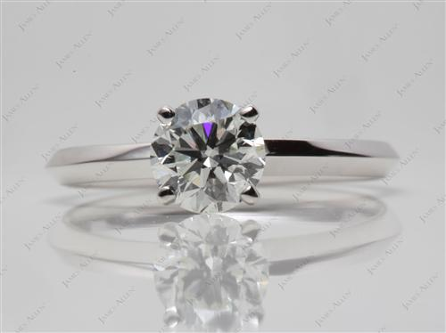 White Gold 1.00 Round cut Solitaire Diamond Ring