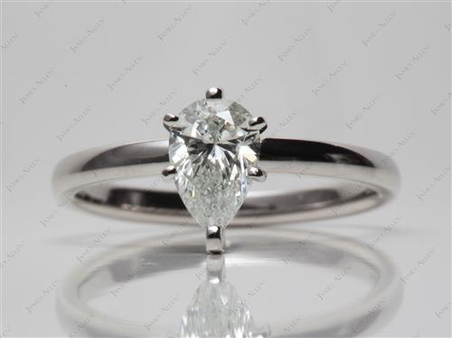 Platinum 0.80 Pear shaped Solitaire Rings