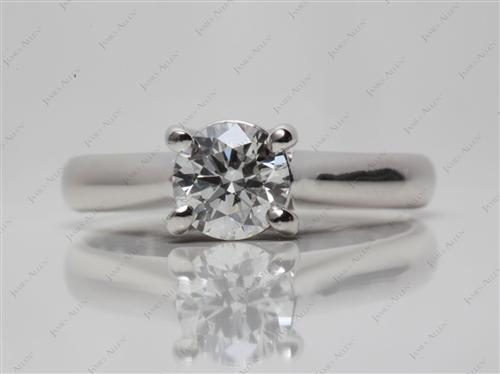 Platinum 0.83 Round cut Solitaire Ring