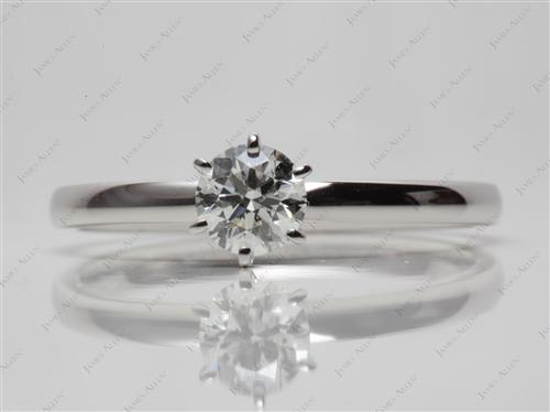 Platinum 0.51 Round cut Diamond Solitaire Engagement Ring