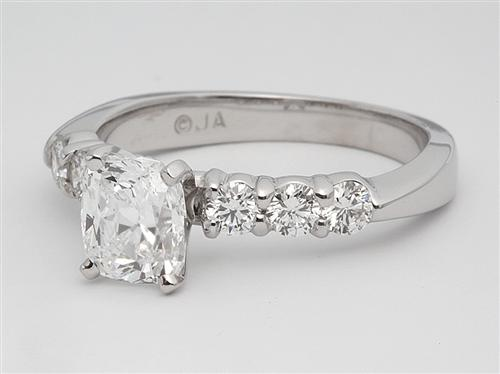 White Gold  Rings With Side Stones