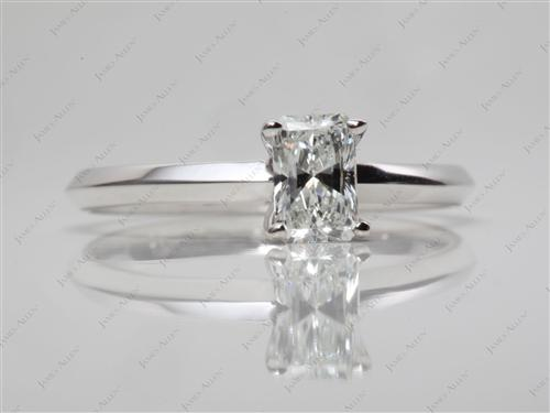 White Gold 0.62 Radiant cut Solitaire Ring Designs