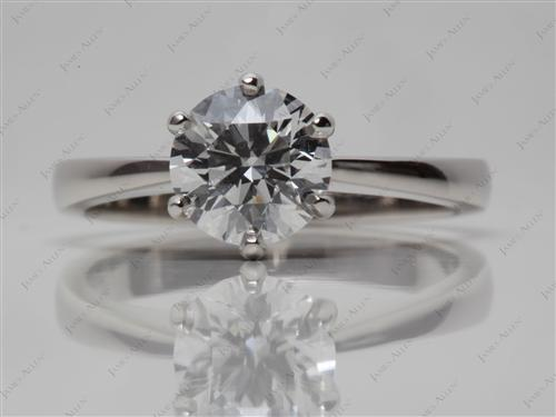 Platinum 1.54 Round cut Round Solitaire Ring