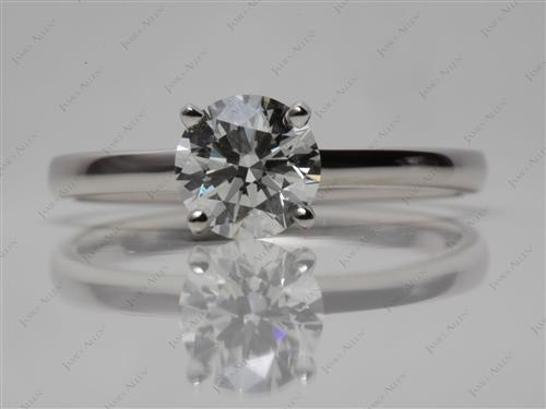 Platinum 1.07 Round cut Solitaire Diamond Ring