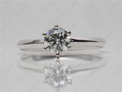 White Gold 0.48 Round cut Engagement Rings