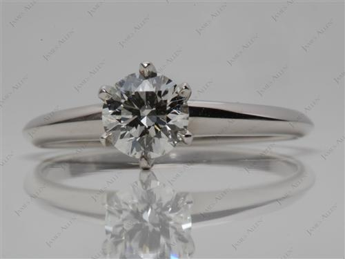 Platinum 0.84 Round cut Solitaire Ring Mountings