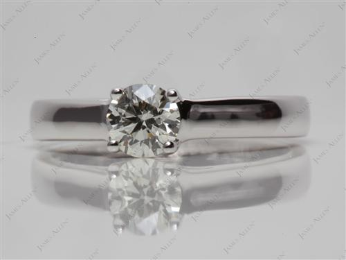 White Gold 0.50 Round cut Solitaire
