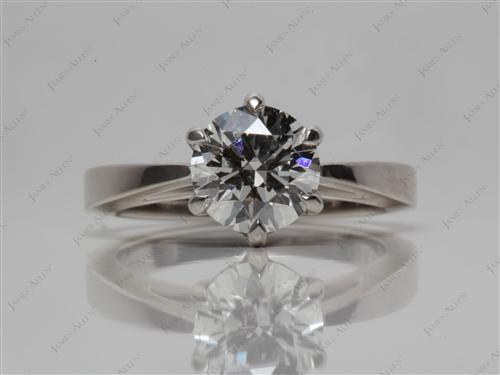 Platinum 1.22 Round cut Solitaire Engagement Ring