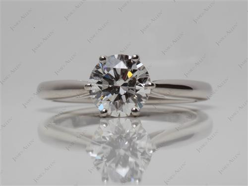 Platinum 1.19 Round cut Solitaire Ring Setting